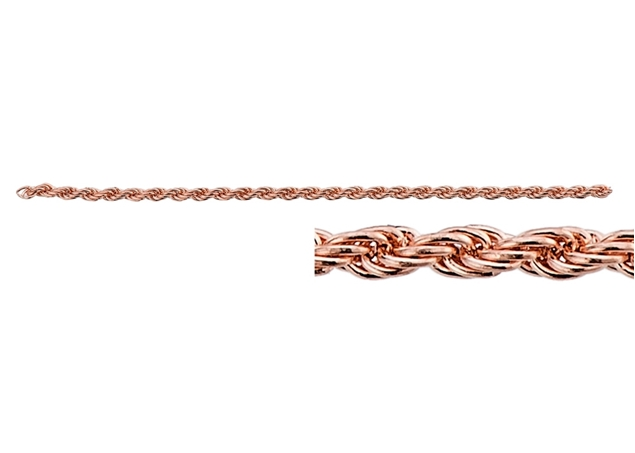 Diamond cut Rope Chain-by Foot