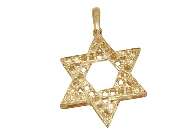 Large Star Of David Pendant For Setting