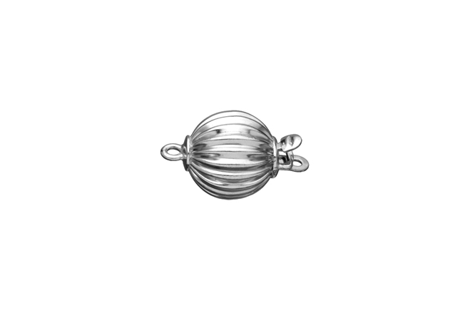 Corrugated Ball Bead Clasp-7mm