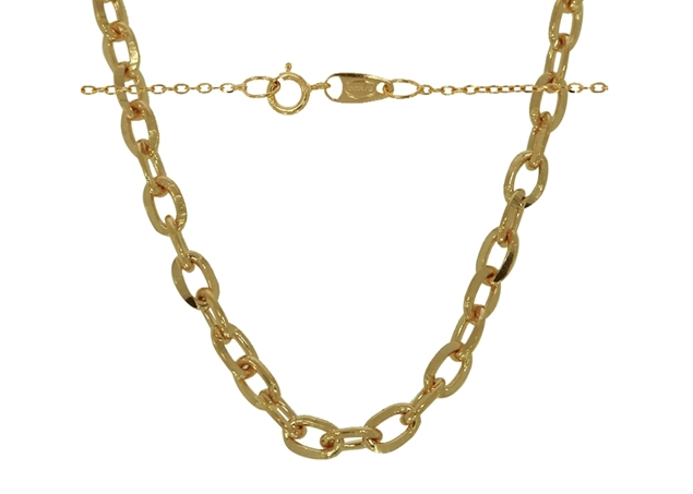 1.2mm Diamond Cut Cable Necklace Chain