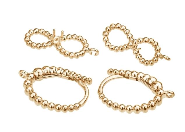 16X10mm Infinity Diamond Earrings