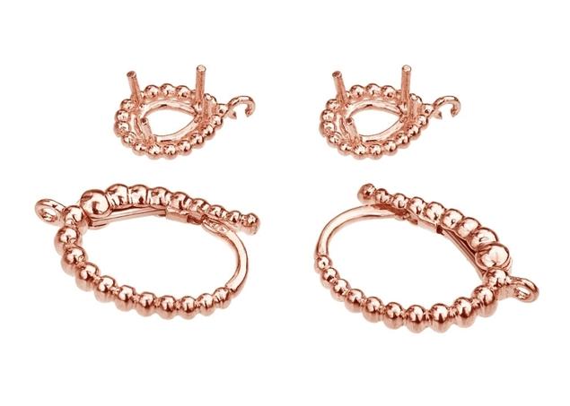 16X10mm Pear Diamond Earrings