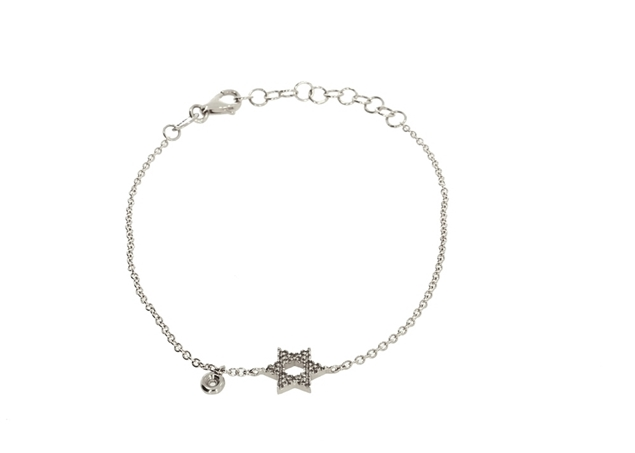 Shield of David  Bracelet with Diamond