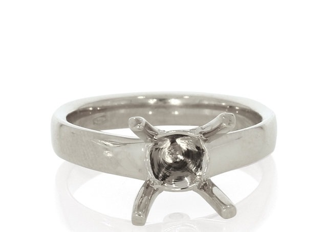 Four Prong Solitaire Cathedral Ring