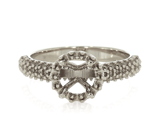 Halo Ring with Side Stones