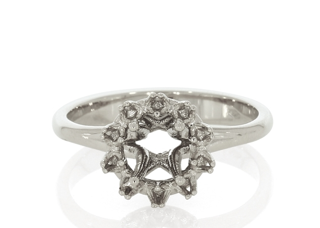 Halo Style Ring