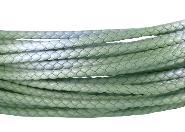 Изображение 3mm Round Braided Leather Cord