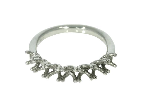 תמונה של טבעת נישואין קלה לשיבוץ 7 אבנים
