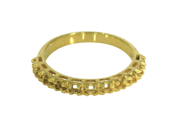 Picture of Diamond Cut Half Eternity Ring 11 Stones