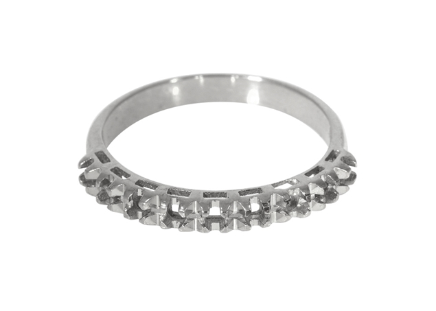 Picture of Diamond Cut Half Eternity Ring 9 Stones