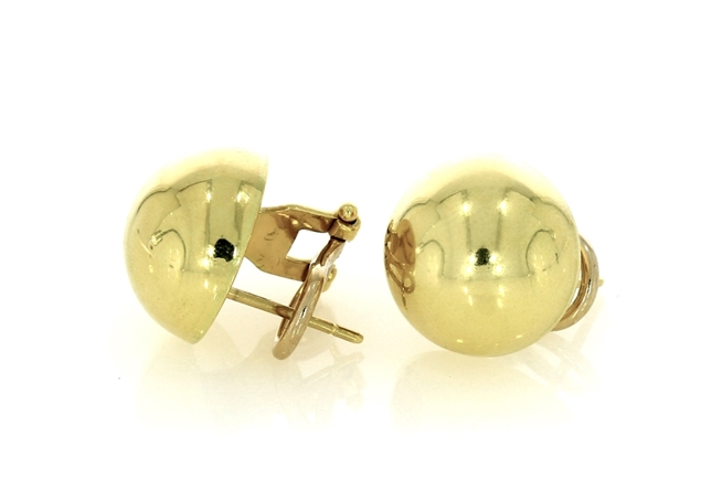 Picture of Halfl Ball Stud Earrings 14mm