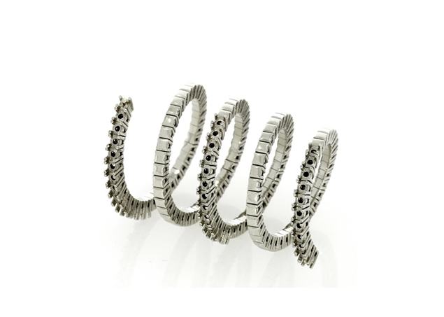 Picture of Diamond Spiral Ring- 4 Lines