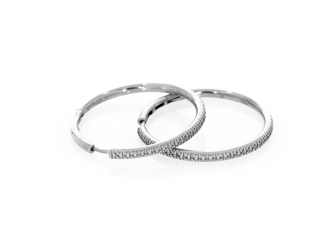 Picture of 28mm Pave Hoop Earrings