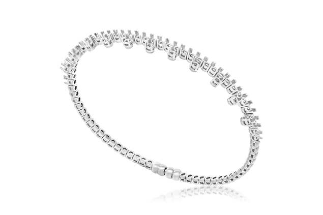 Picture of Diamond Bangle with Magnetic Clasp
