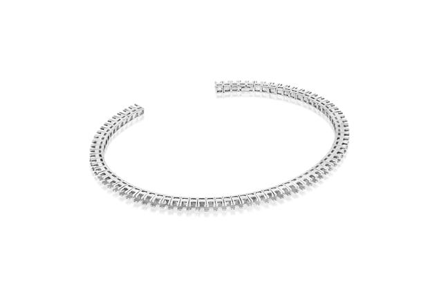 Picture of Open Flexible Diamond Bangle