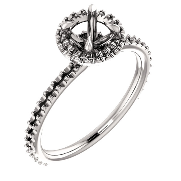 Picture of Halo Style Engagement Ring