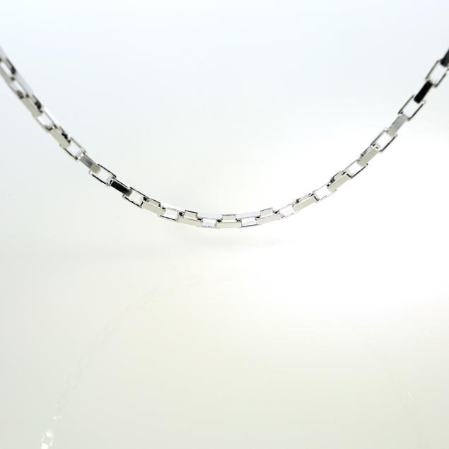 Изображение Flat Anchor Chain Rodium Plated 6.4x3.4mm