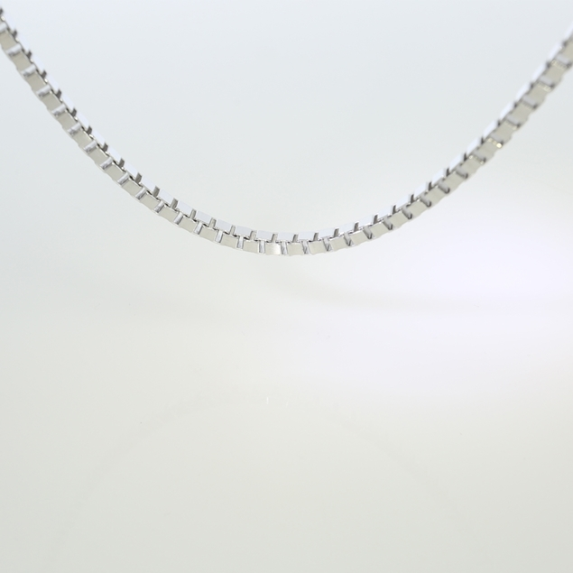Picture of Box Chain Rodium Plated 2.3X2.3mm