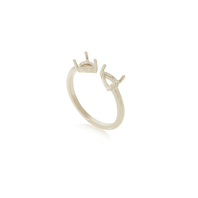Picture of 2 Stone Pear Ring